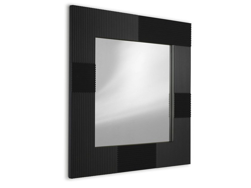 Square wall-mounted MDF mirror CAMPI | Mirror by ALBEDO