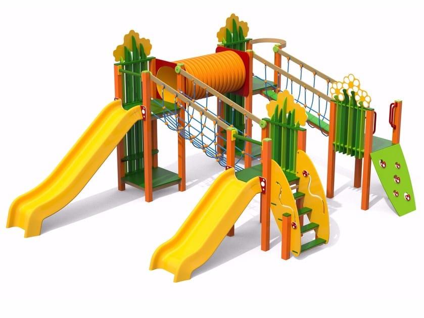 Polyethylene Play structure CAMPO MIX by Stileurbano