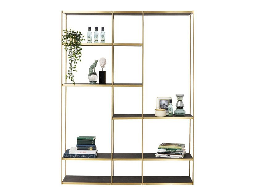 Open stainless steel shelving unit CAMPS BAY | Shelving unit by KARE-DESIGN
