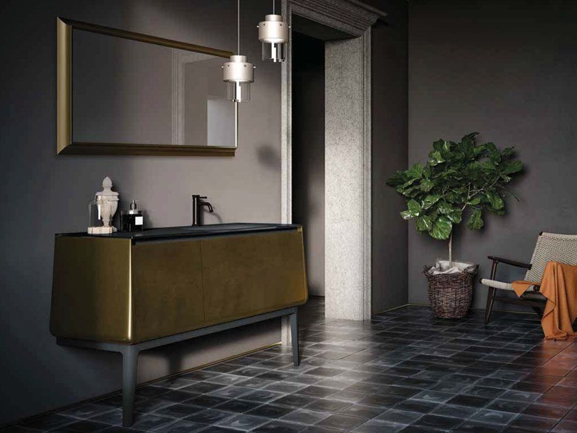 Lacquered vanity unit with doors CAMPUS COMP. 1 by Birex