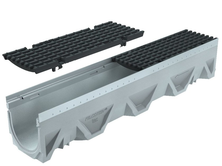 Concrete Drainage channel and part CANALE FILCOTEN TEC 100/10 H185 | Drainage channel and part by GREENPIPE