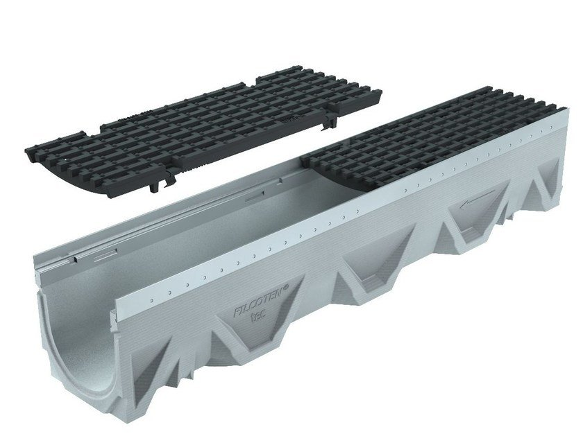 Concrete Drainage channel and part CANALE FILCOTEN TEC 100/5 H160 | Drainage channel and part by GREENPIPE