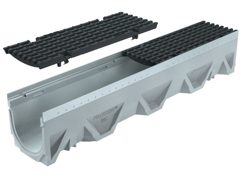 Concrete Drainage channel and part CANALE FILCOTEN TEC 150 H190 | Drainage channel and part by GREENPIPE