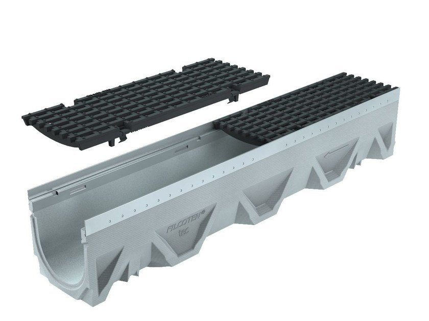 Concrete Drainage channel and part CANALE FILCOTEN TEC 200 H195 | Drainage channel and part by GREENPIPE