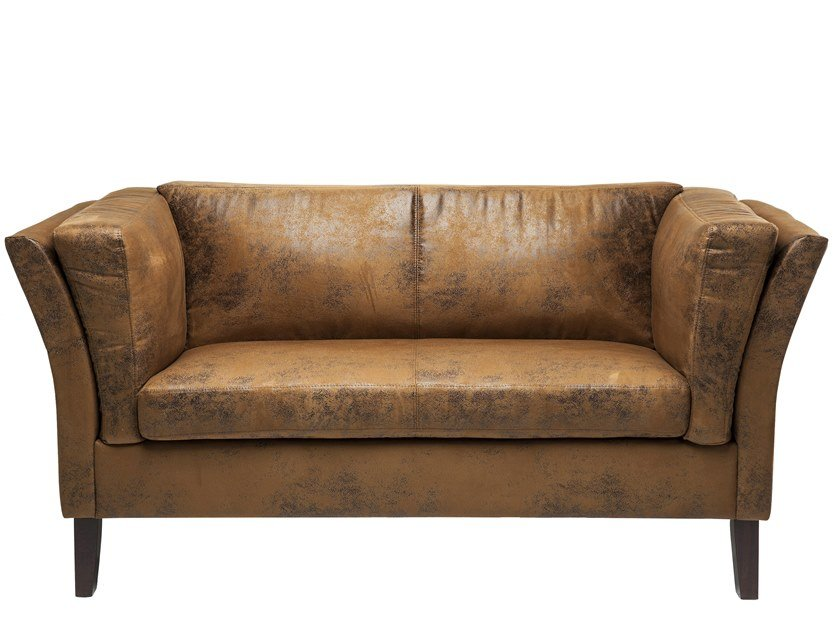 2 seater leather sofa CANAPEE VINTAGE ECO | 2 seater sofa by KARE-DESIGN