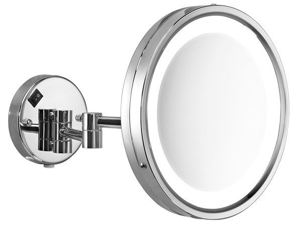 Wall-mounted shaving mirror with integrated lighting 2118 | Shaving mirror by GEDY