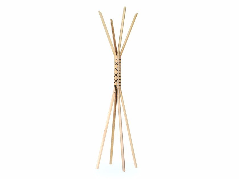 Solid wood coat stand CANCAN by Wewood