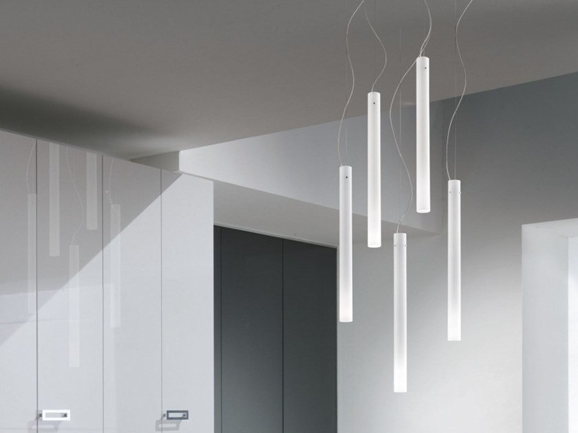 Blown glass pendant lamp CANDELA SP by Vetreria Vistosi