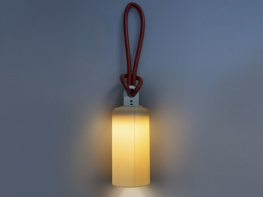 Polycarbonate and Laprene battery lamp CANDLE 1 BATTERY by In-es.artdesign