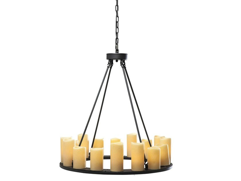 Indirect light pendant lamp CANDLE LIGHT ROUND by KARE-DESIGN
