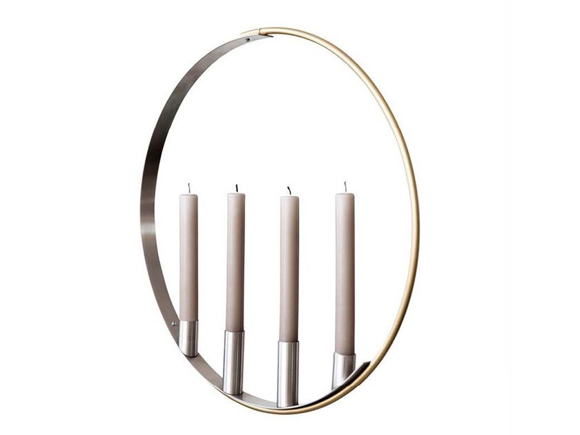 Metal candle holder CANDLE MOBILE by Kristina Dam Studio