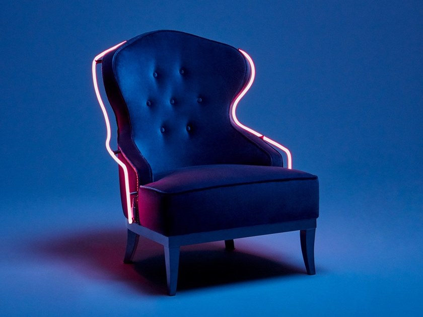 Fabric armchair CANDY LIMITED EDITION by Munna