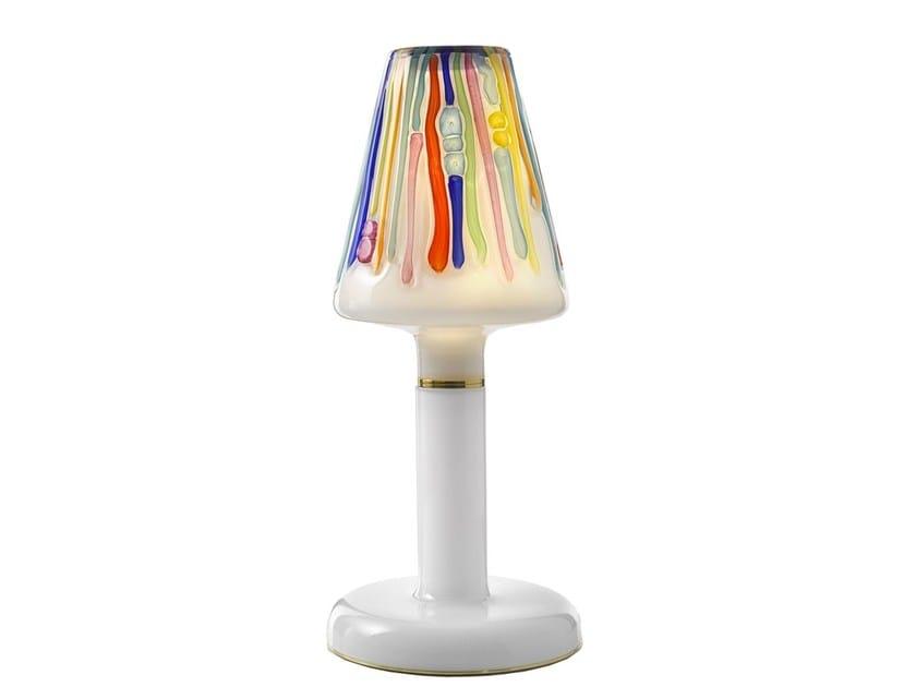 LED blown glass bedside lamp CANDY - LOLLIPOP by Lasvit