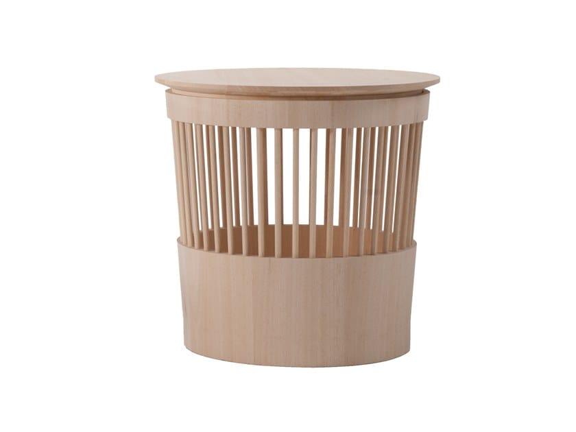 Sgabello / contenitore in legno massello CANESTRO by ManifestoDesign