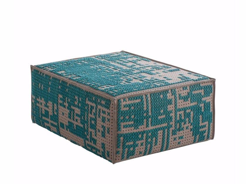 Upholstered wool pouf CANEVAS | Pouf modular by GAN