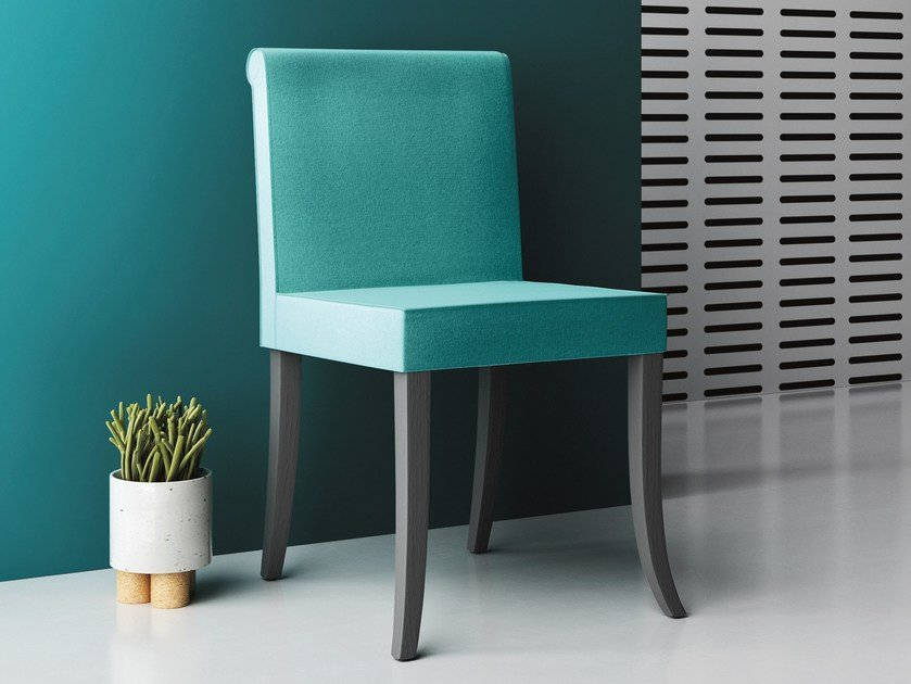 Upholstered fabric reception chair CANNELLA by Imperial Line
