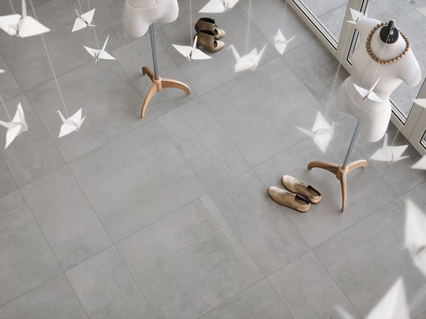 Porcelain wall/floor tiles with concrete effect CANNES by ITT Ceramic