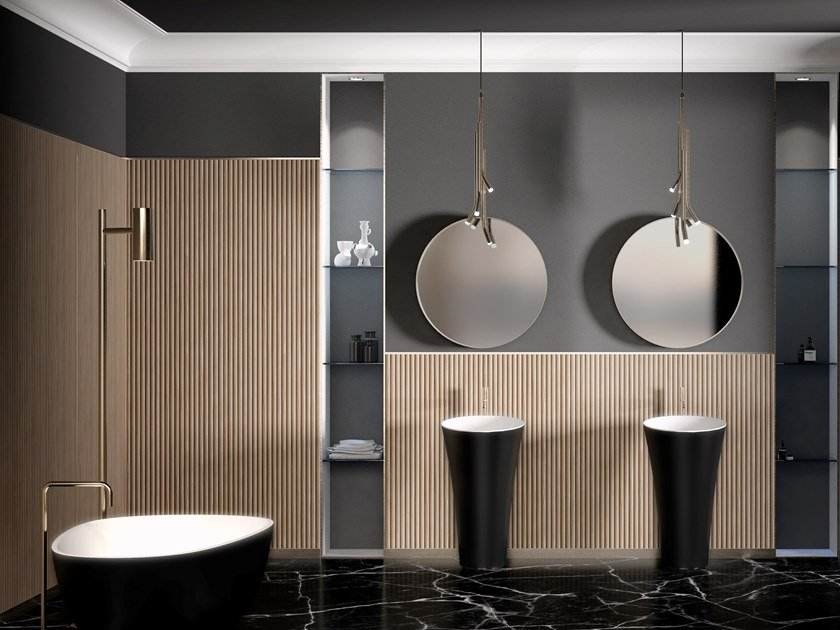 Wooden wall tiles CANNETO by Inkiostro Bianco