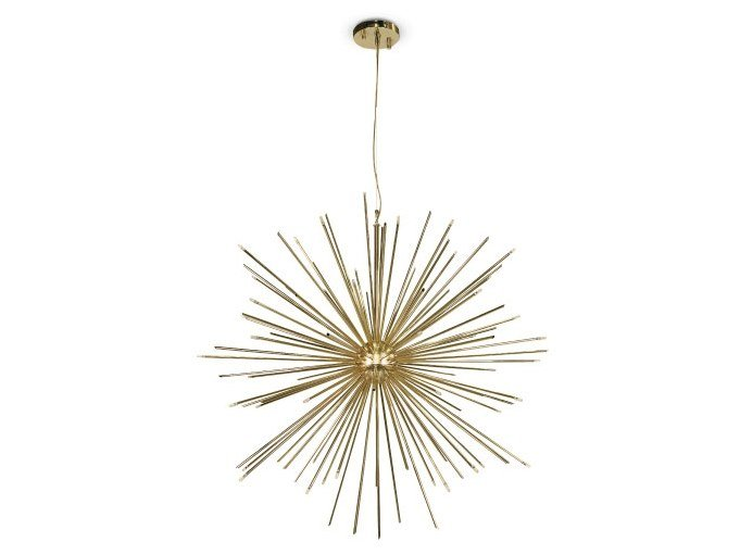 Brass pendant lamp CANNONBALL | Pendant lamp by Delightfull