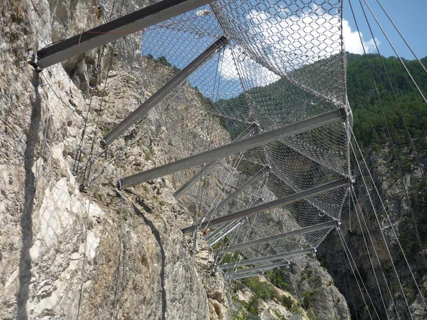 Rockfall protection Protective mesh CANOPIES by GEOBRUGG