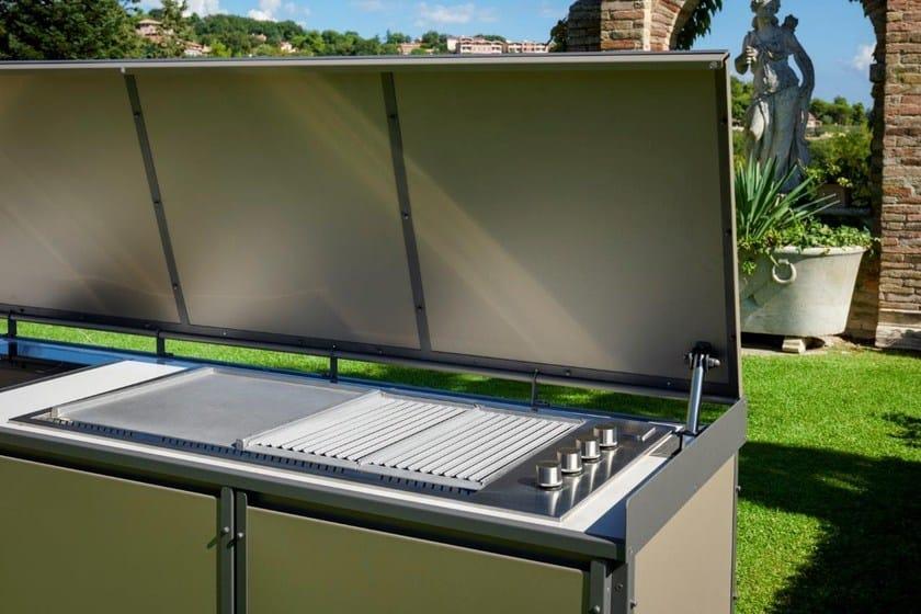 Cucina da esterno con barbecue by samuele mazza by dfn design samuele mazza - Cucina gas esterno ...