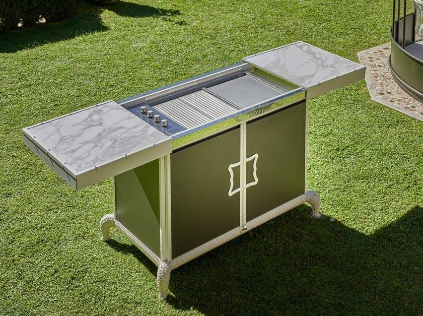 Outdoorküche Garten Edelstahl Erfahrungen : Die outdoorküche wood line xl mit steinrückwand küche