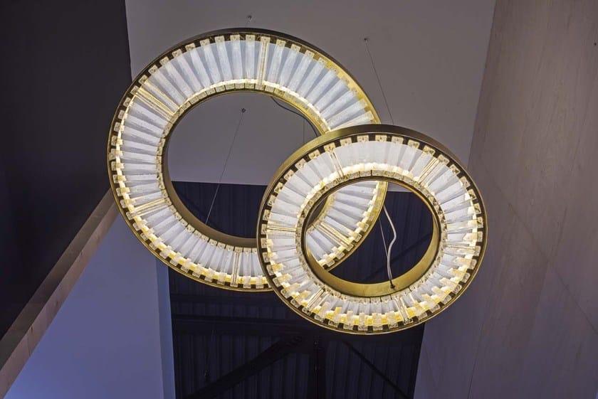 In Lampada Marchetti Cristallo Sospensione Canopus A byY76fg