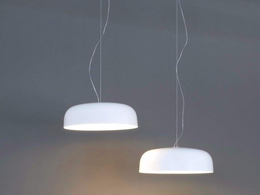 Indirect Light Fluorescent PMMA Pendant Lamp CANOPY   421 By Oluce