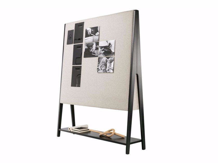Fabric office whiteboard CANOR by THONET