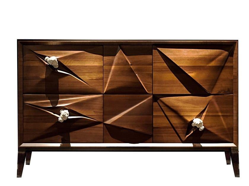 Walnut sideboard with doors CANOVA by HEBANON