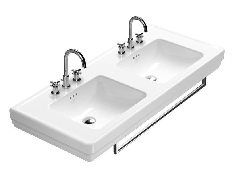 Double washbasin with towel rail CANOVA ROYAL | Double washbasin by CERAMICA CATALANO