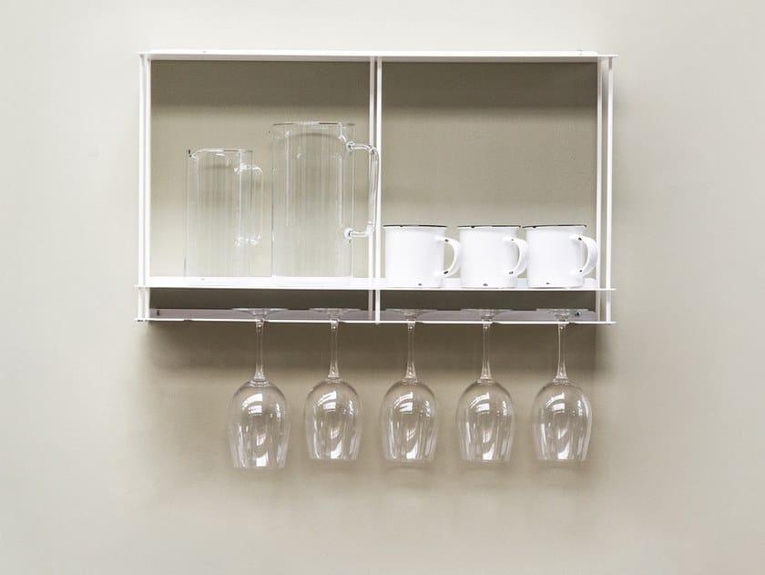 Aluminium bottle rack / wall cabinet CANTINETTA by KRIPTONITE