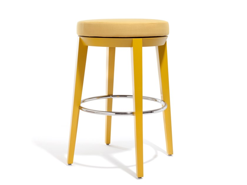 Swivel upholstered stool CANTO | Stool by Blifase