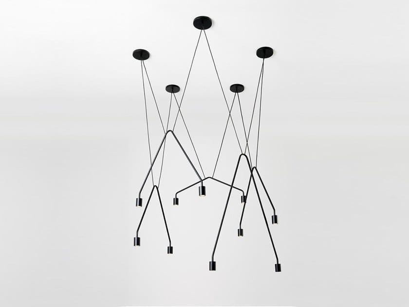 Lampada a sospensione a LED CAOS CONTRACT by Sforzin