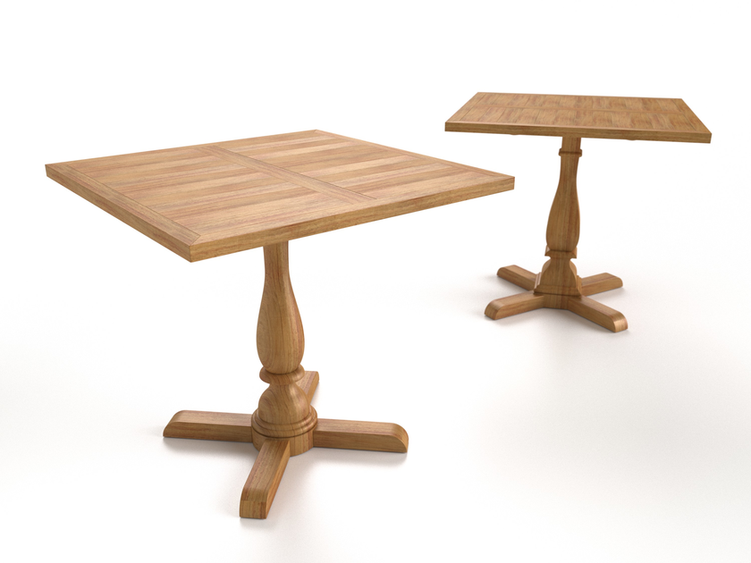 Oval square teak contract table CAP FERRET | Contract table by Sérénité Luxury Monaco