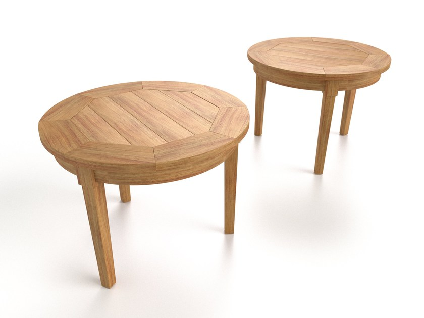 Round teak coffee table CAP FERRET | Round coffee table by Sérénité Luxury Monaco