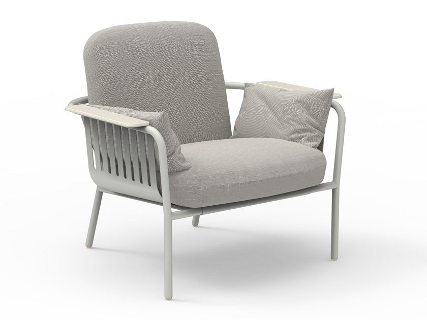 Thermo lacquered aluminium garden armchair with armrests CAPA   Garden armchair by GANDIABLASCO