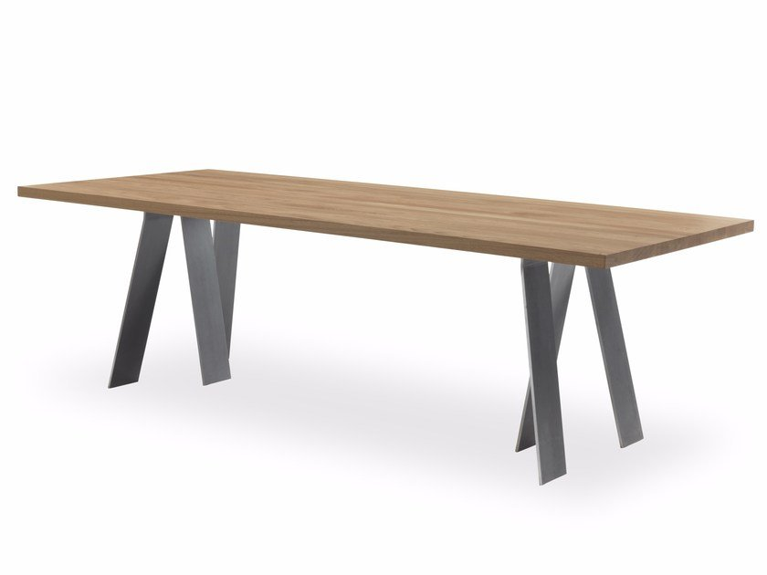 Rectangular solid wood table CAPE KENNEDY by Riva 1920