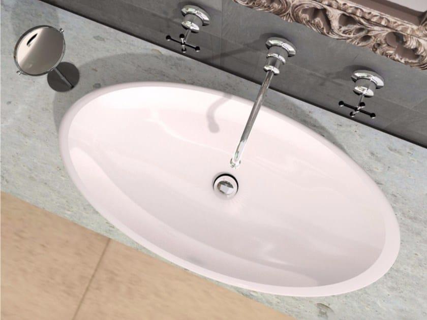 Lavabo da appoggio ovale in Adamantx® CAPITELLO by ZAD ITALY