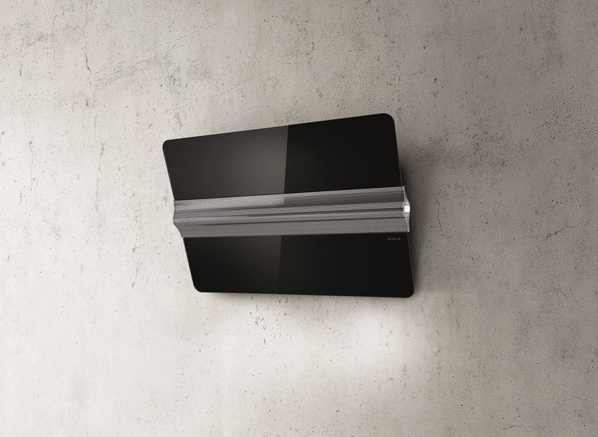 Wall-mounted Glass and Stainless Steel cooker hood CAPITOL by Elica