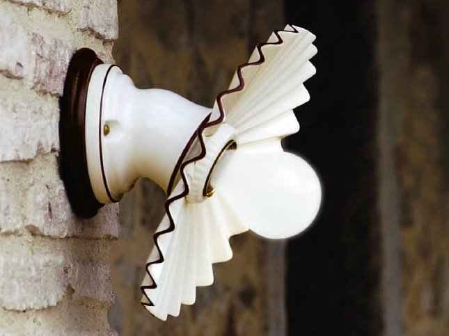 Wall lamp with fixed arm CAPPE   Wall lamp by Aldo Bernardi