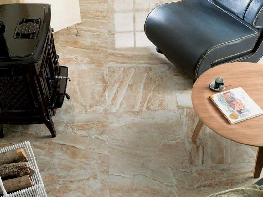 Porcelain stoneware flooring with marble effect CAPPUCCINO | Porcelain stoneware flooring by Venis