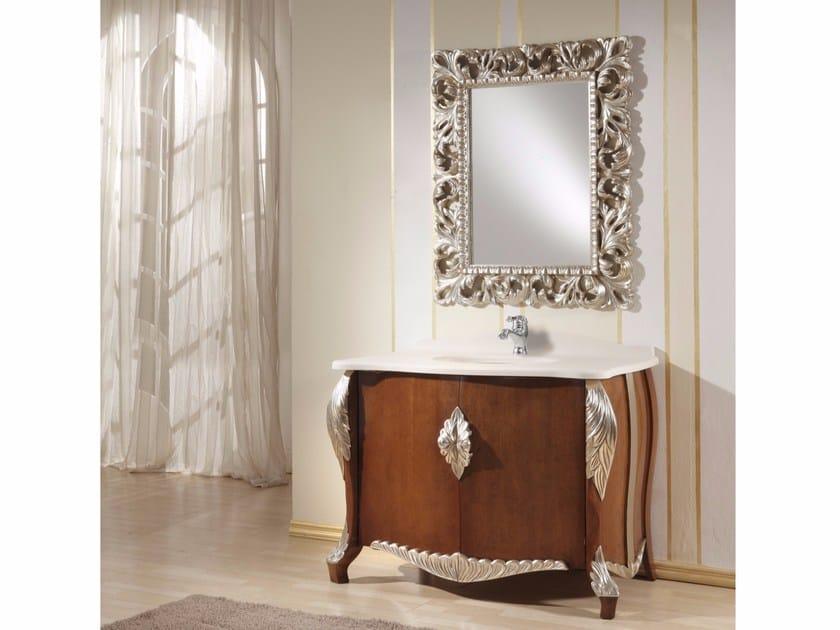Vanity unit with doors with mirror CAPRERA CM46DC by LA BUSSOLA