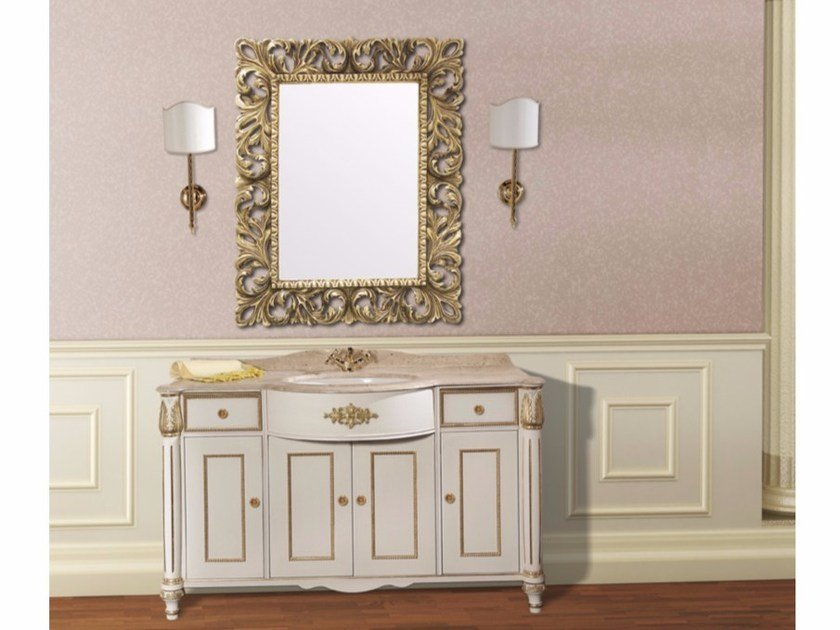 Vanity unit with doors with drawers with mirror CAPRI CM19DC by LA BUSSOLA