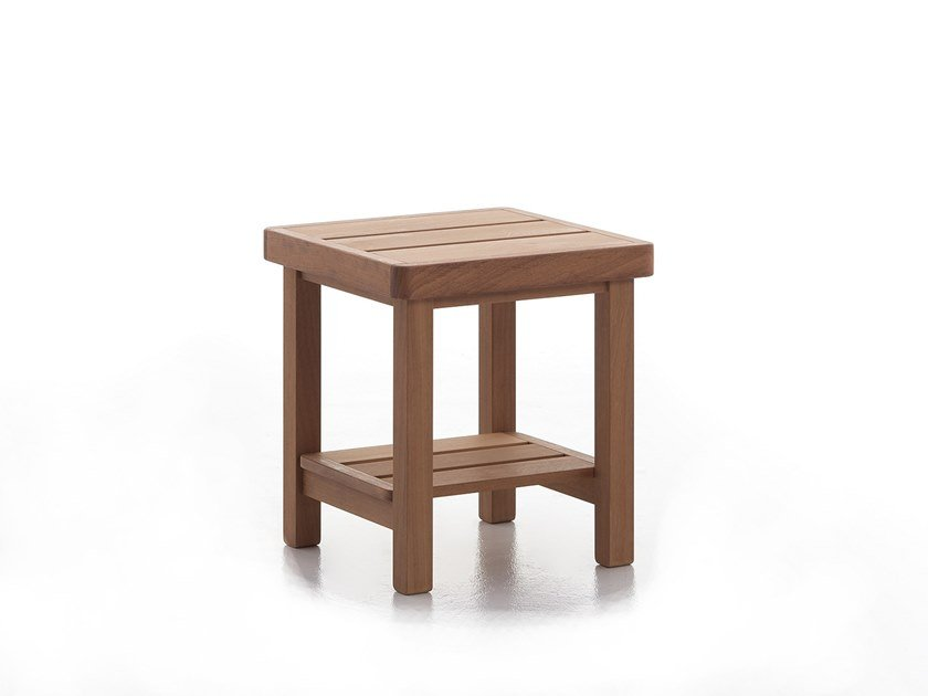 Square iroko garden table CAPRI T01 by Very Wood