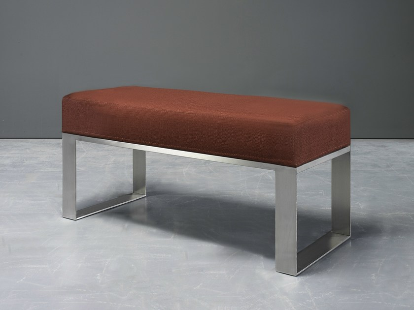 Upholstered fabric bench CAPRI V2 by AZEA