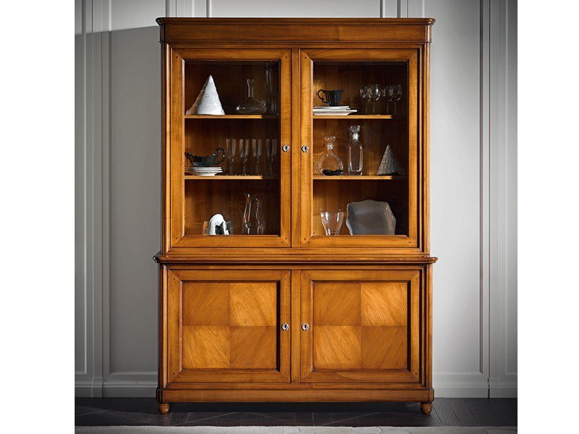 Cherry wood display cabinet CAPRICCI | Cherry wood display cabinet by Prestige