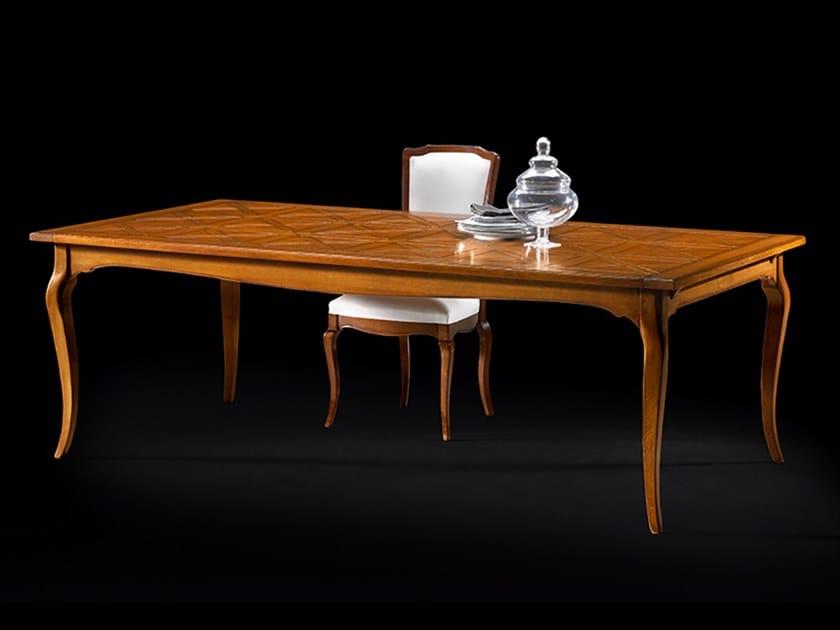 Extending rectangular oak table CAPRICCI   Oak table by Prestige