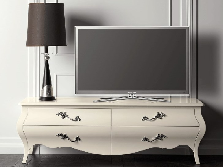 Lacquered cherry wood TV cabinet CAPRICCI | TV cabinet by Prestige