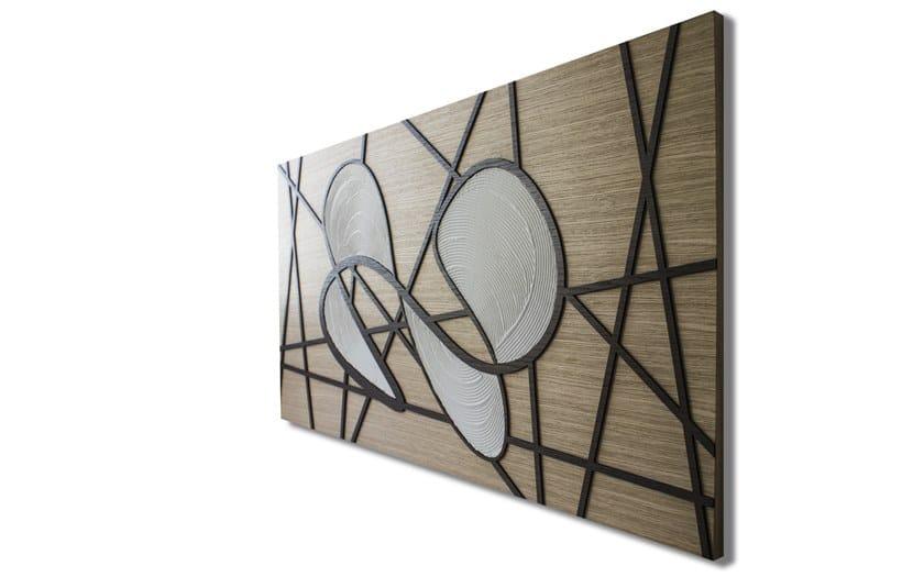 Quadro in legno intarsiato con bassorilievo capriccio infinity